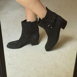 J. Crew Parker Boots in Black Suede